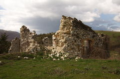 Ruins and storm Stock Image