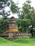 Ruins of a Stupa at Ayuttaya, Thailand. This Buddhist temple or stupa in Ayuttaya, Thailand was damaged by the Burmese during a sacking in the 1500s Royalty Free Stock Photos