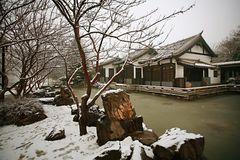 Zhengzhou in winter. The ruins of the Sui River and the Song Dynasty in Zhengzhou Royalty Free Stock Photo
