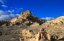 Ruins in Sunrise. Ruins of a Mysteriously Vanished Tibetan Kingdom Stock Image