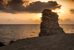Ruins at sunset Royalty Free Stock Images