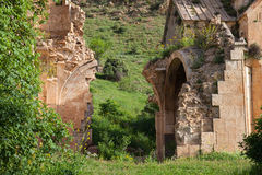 The ruins of Surb Karapet church. Armenian ancient ruined church of Surb Karapet Stock Photos