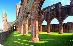 Ruins of Sweetheart Abbey, New Abbey, Scotland Stock Images