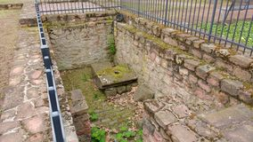 Ruins of the Synagoge Seligenstadt Germany stock photo