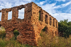 The ruins of a synagogue. Belarus.The ruins of a synagogue in the village Novy Sverjen.19th century royalty free stock photography