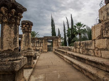 Ruins of synagogue in Capernaum, Israel Royalty Free Stock Image