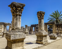 Ruins of synagogue in Capernaum, Israel Royalty Free Stock Photo