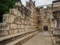 Ruins of synagogue in Capernaum, Israel Royalty Free Stock Images