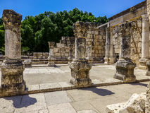 Ruins of synagogue in Capernaum, Israel Stock Image