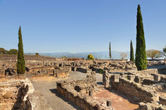 Ruins of the synagogue of Capernaum on Kinneret, Israel Royalty Free Stock Image