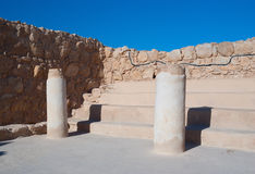 Ruins of synagogue in Masada Stock Image