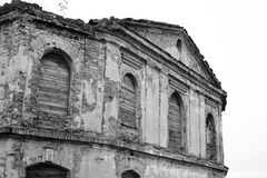 The ruins of a synagogue in Stolin. Royalty Free Stock Photos