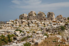 Ruins of Syracuse ancient fortifications, Sicily island Stock Photo