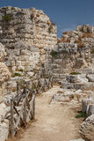 Ruins of Syracuse ancient fortifications, Sicily island Stock Photography