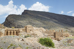 Ruins in Tanuf Oman. Image of historic ruins in the town Tanuf in Sultanate Oman, middle east Royalty Free Stock Images