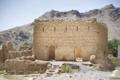 Ruins in Tanuf Oman. Image of historic ruins in the town Tanuf in Sultanate Oman, middle east Royalty Free Stock Image