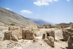 Ruins in Tanuf Oman. Image of historic ruins in the town Tanuf in Sultanate Oman, middle east Stock Photography