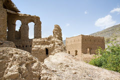 Ruins in Tanuf Oman. Image of historic ruins in the town Tanuf in Sultanate Oman, middle east Royalty Free Stock Photography