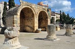 Ruins in Tarragona, Spain Royalty Free Stock Image