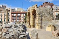 Ruins in Tarragona, Spain. Archaeology site in Tarragona, Spain - old roman ruins Royalty Free Stock Images
