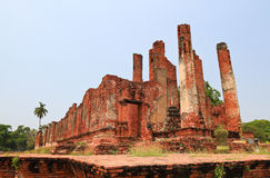 Ruins temple. Ruins of a temple in ayutthaya,Thailand Stock Photo