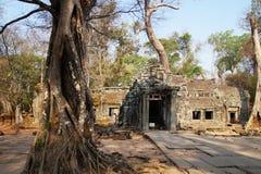 Ruins of Temple at Angkor Wat, Cambodia Royalty Free Stock Image
