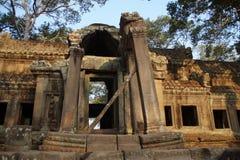 Ruins of Temple at Angkor Wat, Cambodia Stock Photos
