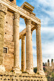 Ruins of the Temple of Antoninus and Faustina in Rome, Italy Royalty Free Stock Image