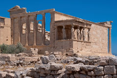The ruins of the temple of Aphrodite. Stock Images