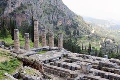 The Ruins of Temple of Apollo, Delphi Stock Photography