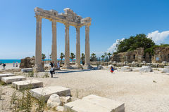 The ruins of the temple of Apollo Stock Photos