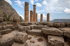 Ruins of  Temple of Appolo, Delphi, Greece Royalty Free Stock Image