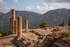 Ruins of  Temple of Appolo, Delphi, Greece Stock Images