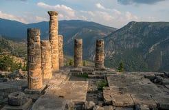 Ruins of  Temple of Appolo, Delphi, Greece Royalty Free Stock Photos