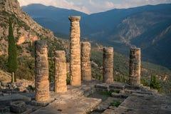 Ruins of  Temple of Appolo, Delphi, Greece Stock Image