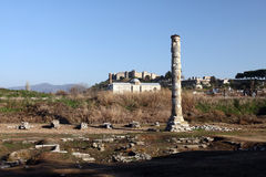 Ruins of Temple of Artemis stock photography