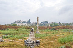 The ruins of The Temple of Artemis Stock Photos