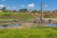 Ruins of Temple of Artemis Ephesus Selcuk Turkey Royalty Free Stock Photos