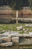 Ruins of Temple of Artemis, one of the Seven Wonders of the Ancient World, near Selçuk, Turkey. View of ruins of Temple of Artemis, one of the Seven Wonders royalty free stock photography