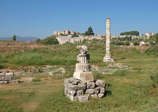 Ruins of temple of Artemis are in Turkey Royalty Free Stock Image