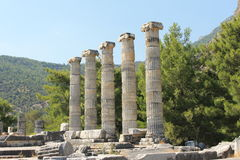 The ruins of the Temple of Athena Royalty Free Stock Image