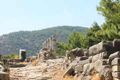 The ruins of the Temple of Athena Stock Photography