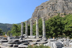 The ruins of the Temple of Athena Stock Photos