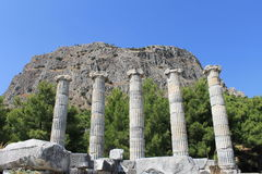 The ruins of the Temple of Athena Royalty Free Stock Images