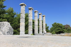 The ruins of the Temple of Athena Royalty Free Stock Photography