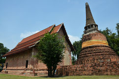 Ruins and temple of Ayutthaya Historical Park Thailand Stock Photo