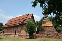 Ruins and temple of Ayutthaya Historical Park Thailand. As a UNESCO World Heritage City, Ayutthaya is mostly about exploring the ruin sites and temples peppered Royalty Free Stock Photography