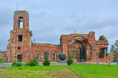 Ruins of Temple of Christmas of John the Forerunner in Fortress Oreshek near Shlisselburg, Russia Stock Photography