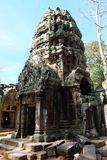 The ruins of the temple complex of Ta Prohm in Cambodia. Architectural heritage of the Khmer Empire. A masterpiece of world. Architecture stock photo
