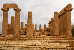 The ruins of Temple of Concordia, Valey of temples, Agrigento, S Stock Images